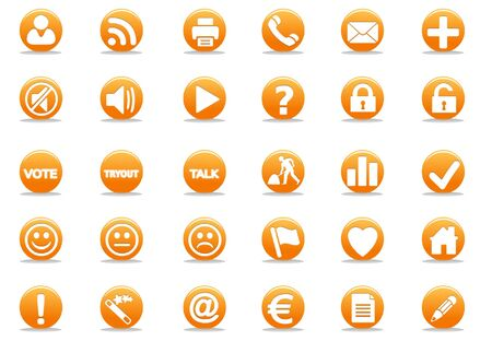 3d orange web icon - computer generated illustration Stock Illustration - 4327466