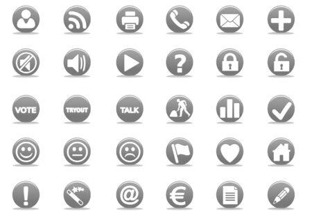 3d black web icon - computer generated illustration Stock Illustration - 4327465