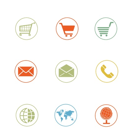 High Quality Icon Sets - ecommerce shopping cart photo