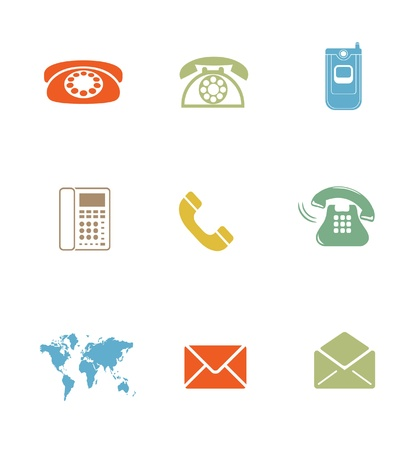High Quality Icon Sets - business email phone Stock Photo - 18359358
