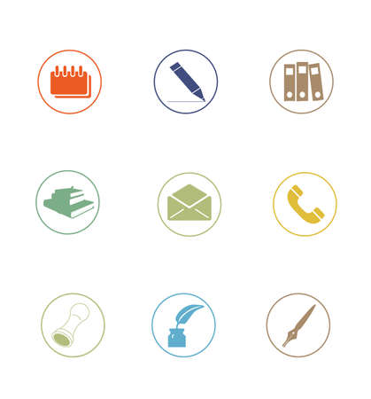 High Quality Icon Sets - business office education photo