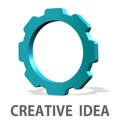 Conceptual element logo idea - company brand identity graphic Stock Photo - 19547475