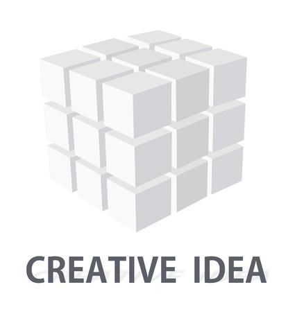 Modern symbol logo idea - business brand identity illustration Stock Photo