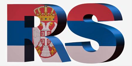 3d Standard Country Code Letters - Abbreviation Standart Code - Serbia Stok Fotoğraf