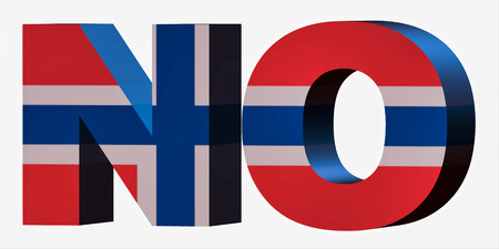 3d Standard Country Code Letters - Abbreviation Standart Code - Norway
