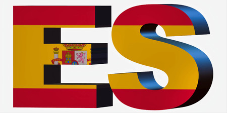 3d Standard Country Code Letters - Abbreviation Standart Code - Spain