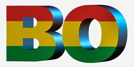 3d Standard Country Code Letters - Abbreviation Standart Code - Bolivia