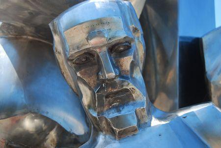 Hero sculpture Stock Photo