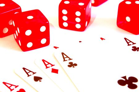 five dice and ace photo
