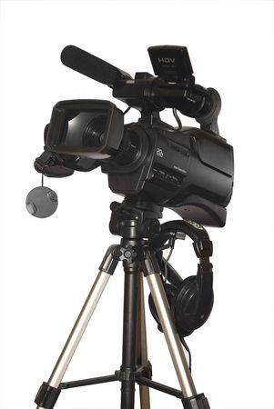 Tv Camera isolated on white photo