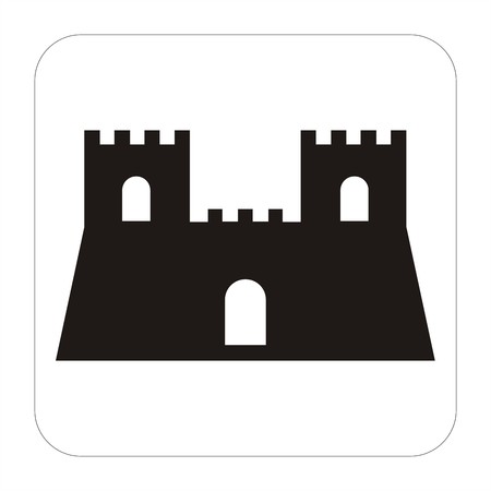 Tourism sign  - ancient castel