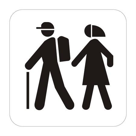 Sport sign - walkng tourists photo