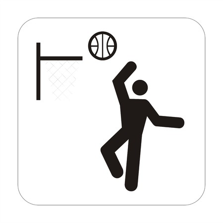 Sports sign - basketball photo