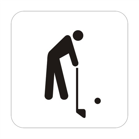 Sports sign - golf photo