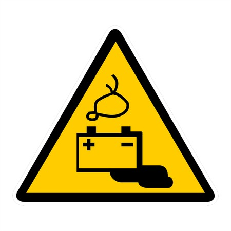 electrocuted: attention signs - electrocuted Stock Photo