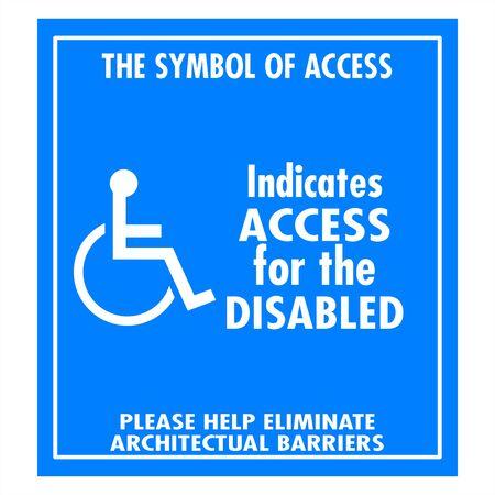 Handicap signs photo