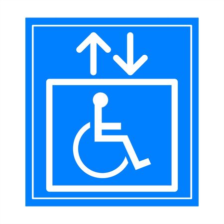 Handicap signs Stock Photo