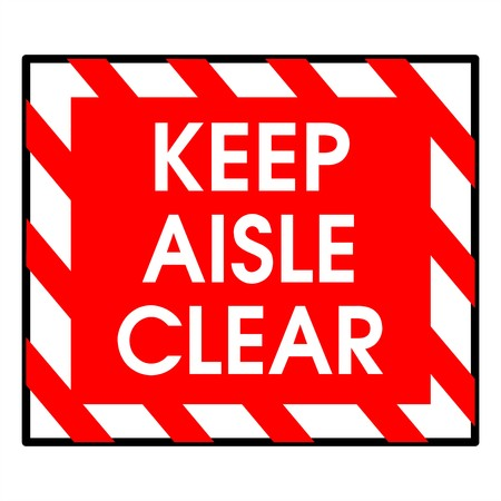 adjusting activity: Dander area - keep aisle clear
