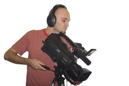 cameraman isolated