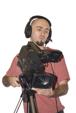 cameraman isolated Stock Photo - 7216817