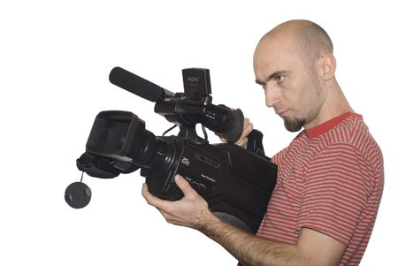 cameraman isolated photo