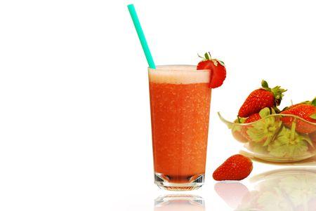 Fresh Strawberries Juice photo