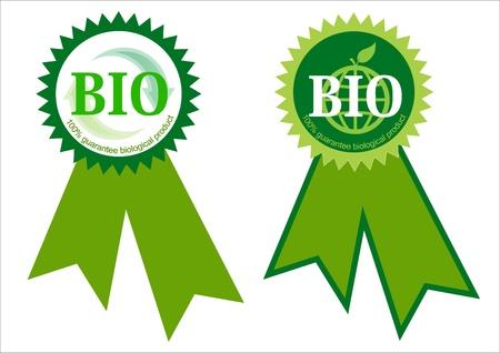 natural process: Two bio labels Stock Photo