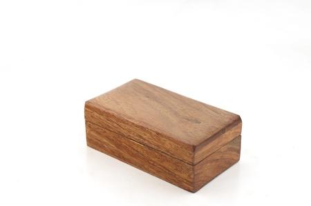 Dark brown wood box