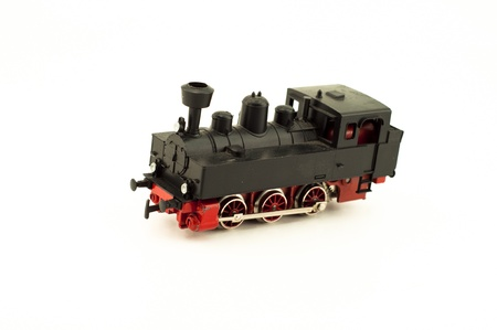 Steam locomotive toy isolated photo
