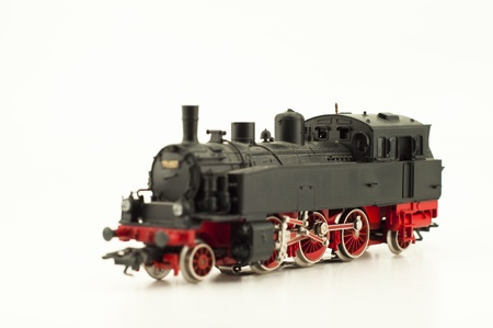 black steam locomotive isolated