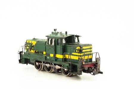 Diesel locomotive isolated