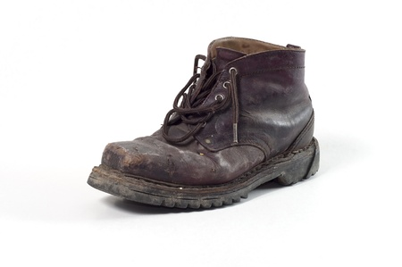 muddy track: old boot