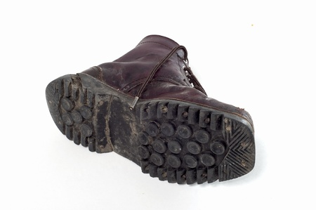 muddy track: old boots