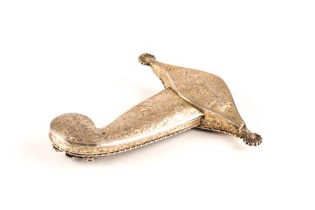 engraved sword silver handle