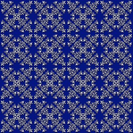 seamless pattern: Baroque style seamless pattern. Stock Photo