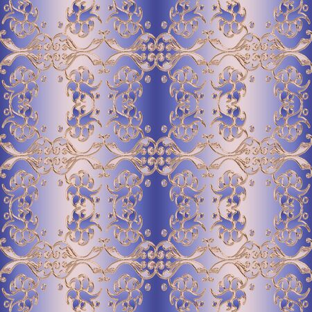 stilish: baroque style seamless pattern