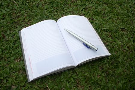 secretarial: Notebook & pen on the field