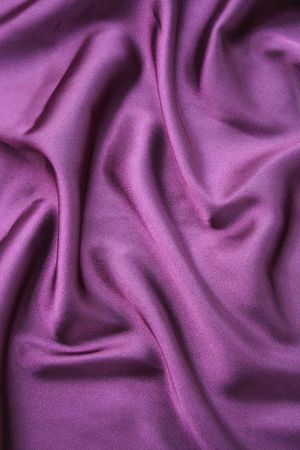 a frill: Purple silk with frill flow