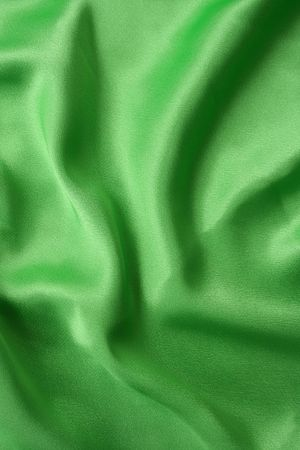 a frill: Green silk with frill flow