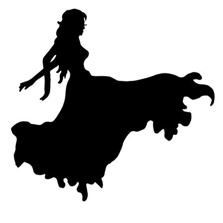 The girl is dancing.