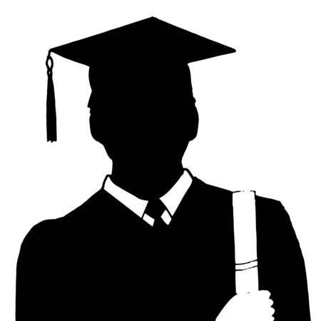 the applicant: High quality original trendy vector illustration of a Student