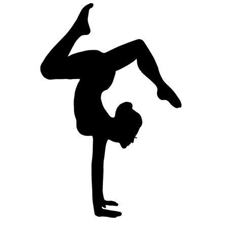 yogi aura: High quality original trendy vector illustration of a gymnast. yoga
