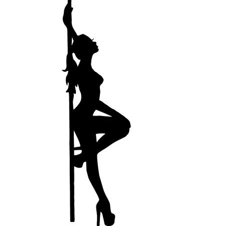 Hoge kwaliteit originele trendy vector girl.striptease.pooldance. go-go dance