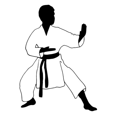 high section: High quality original trendy vector Karate. Sport Childrens sports Section karate