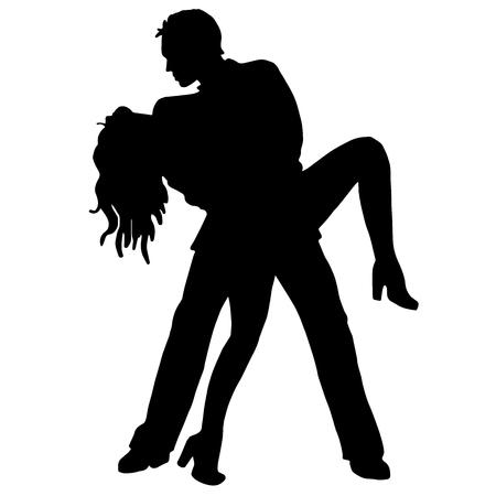 latino dance: Pair latino dance isolated on white background