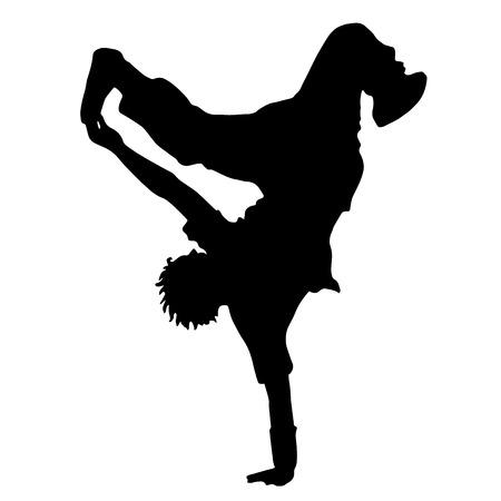 breakdance: Dance. Street dance. The guy dances breakdance Sport