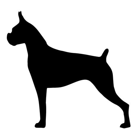 Silueta de alta calidad del bulldog aislado sobre fondo blanco Ilustración de vector