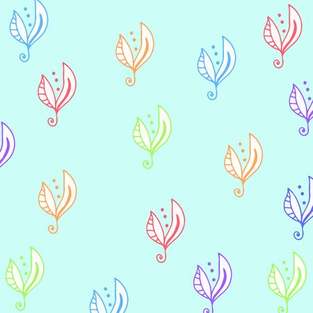 babyroom: Seamless floral pattern for fabrick or babyroom in rainbow collors Illustration