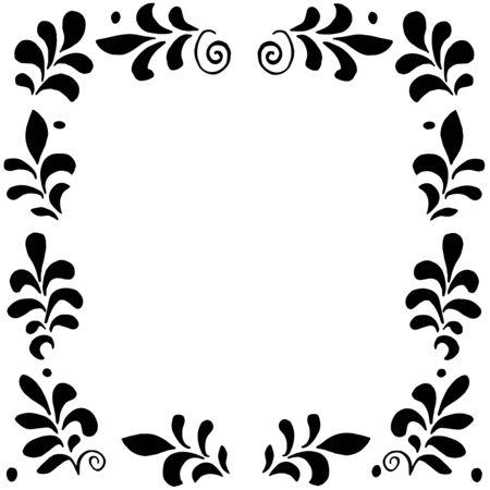 postcard design: High quality original floral frame for postcard, invintation, design, decor