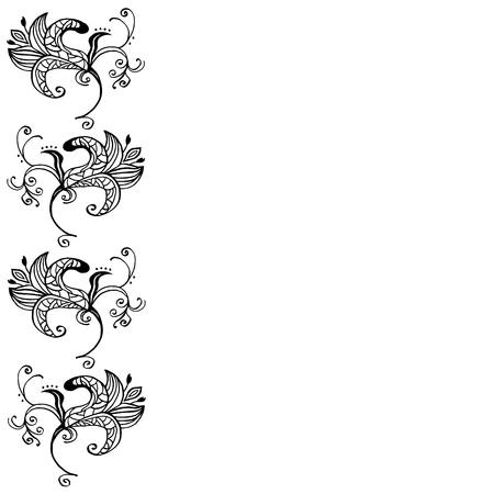 pistil: High quality original illustration of spring flower for decor,postcards, design or invintation